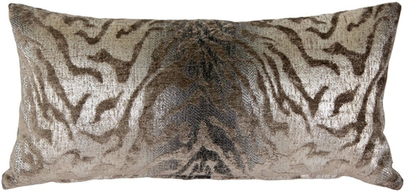 Ruffino Mocha Chenille Throw Pillow 12x24