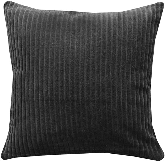 Cotton Corduroy Black Throw Pillow 16X16