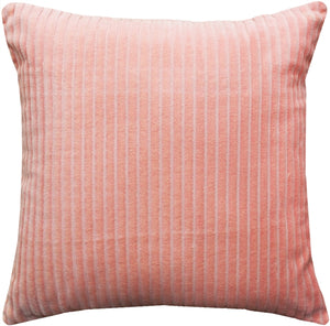 Cotton Corduroy Pastel Pink Throw Pillow 16x16