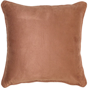 Sedona Microsuede Light Brown Throw Pillow 22x22