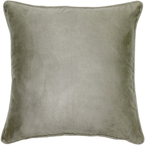 Sedona Microsuede Sage Gray Throw Pillow 22x22