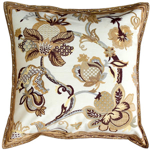 Briar Yellow Floral Throw Pillow 17X17