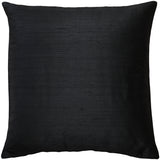 Sankara Black Silk Throw Pillow 20x20