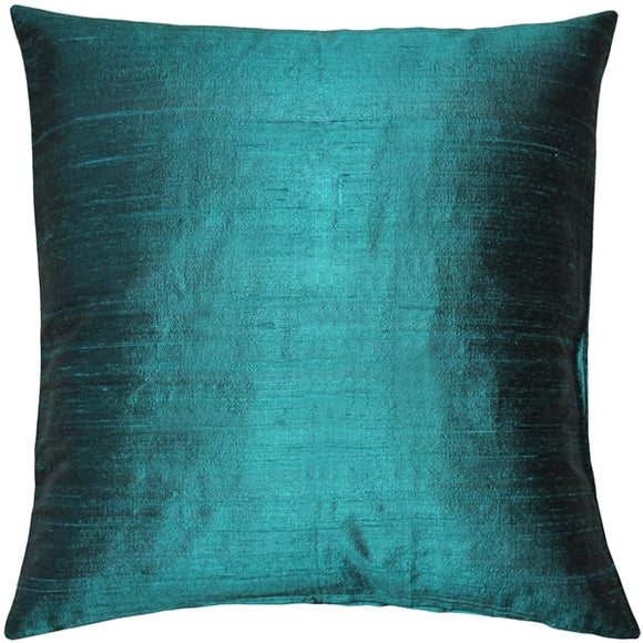 Sankara Juniper Green Silk Throw Pillow 16x16