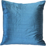 Sankara Marine Blue Silk Throw Pillow 20x20