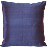 Sankara Purple Silk Throw Pillow 20x20