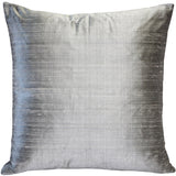 Sankara Silver Silk Throw Pillow 20x20