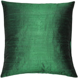 Sankara Black Silk Throw Pillow 18x18