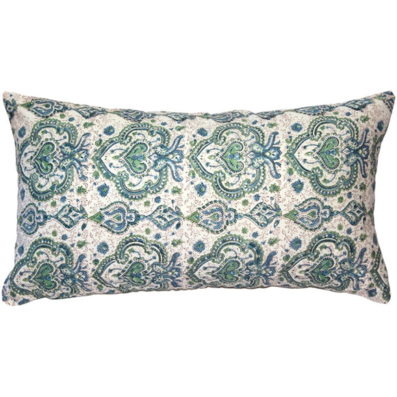 Annecy Shore Cotton Throw Pillow 12x24