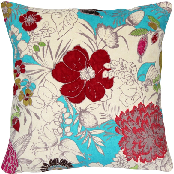 Ravenna Garden Floral Throw Pillow 18x18