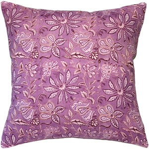 Mauve Flowers Throw Pillow 19x19