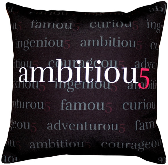 Ambitiou5 Throw Pillow 17x17
