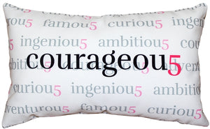 Courageou5 Throw Pillow 12x20