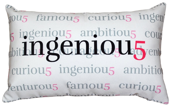 Ingeniou5 Throw Pillow 12x20