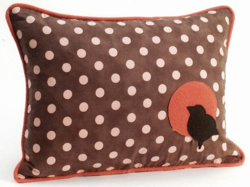 Bird Polka Dot Decorative Throw Pillow