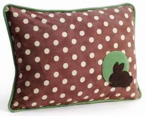 Bunny Polka Dot Decorative Throw Pillow