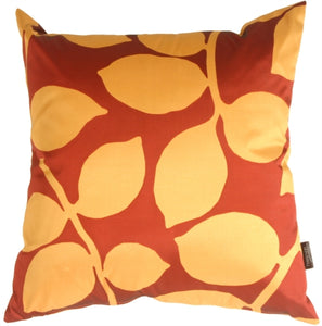 Organic Leaf Red Pillow