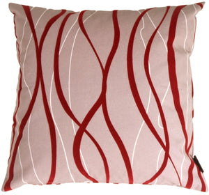 Wave Red Pillow