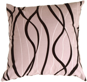 Wave Black Pillow
