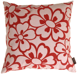 Flower Red Pillow