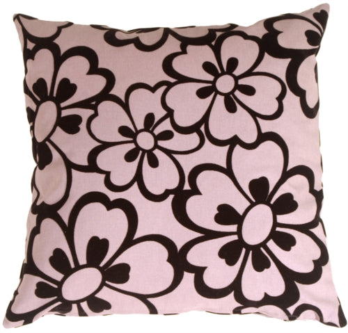 Flower Black Pillow