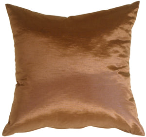 Metallic Copper Throw Pillow