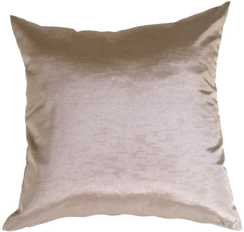 Metallic Pewter Throw Pillow