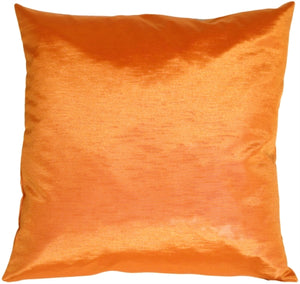 Metallic Tangerine Throw Pillow