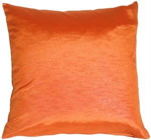 Metallic Orange Throw Pillow