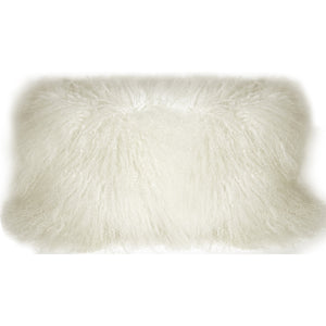 Mongolian Sheepskin 12x24 Lumbar Rectangular Pillow