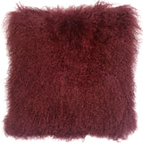 Mongolian Sheepskin Wine Throw Pillow