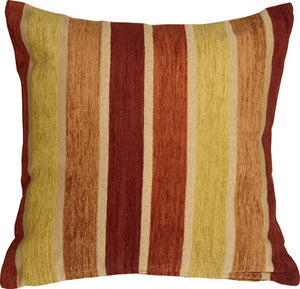 Savannah Stripes 20x20 Yellow Orange Chenille Throw Pillow