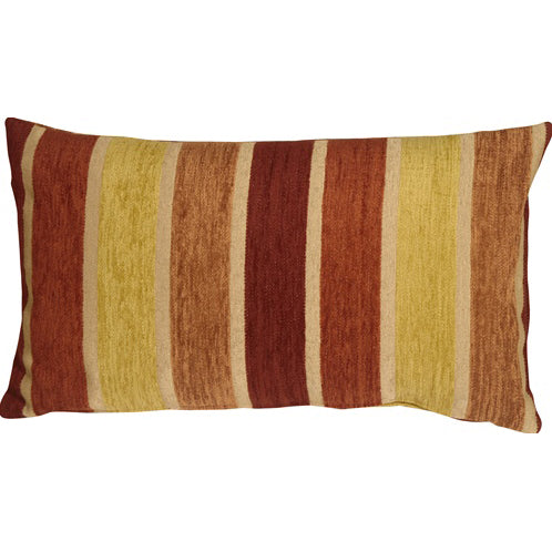 Savannah Stripes 12x20 Yellow Orange Chenille Throw Pillow