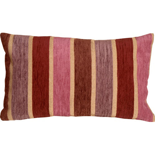 Savannah Stripes 12x20  Pink Purple Chenille Throw Pillow