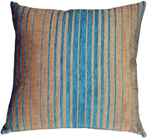 Shasta Blue Stripes Throw Pillow