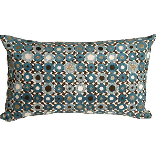 Houndstooth Spheres 12x20 Blue Throw Pillow
