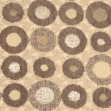 Houndstooth Spheres 12x20 Brown Throw Pillow