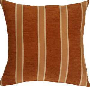 Traditional Stripes in Rust 19x19 Decorative Pillow