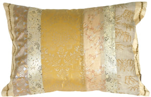 Silk Odyssey Gold Pillow