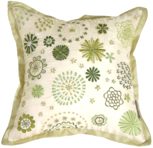 Floral Delight Cream Pillow