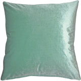 Corona Mint Green Velvet Pillow 19x19