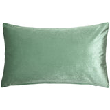 Corona Mint Green Velvet Pillow 12x20