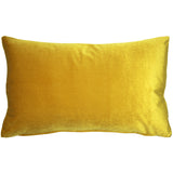 Corona Deep Yellow Velvet Pillow 12x20