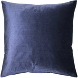 Corona Royal Blue Velvet Pillow 19x19