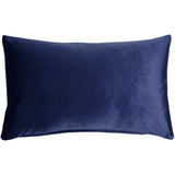 Corona Royal Blue Velvet Pillow 12x20