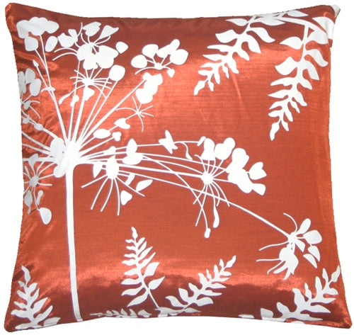 Red with White Spring Flower and Ferns 16