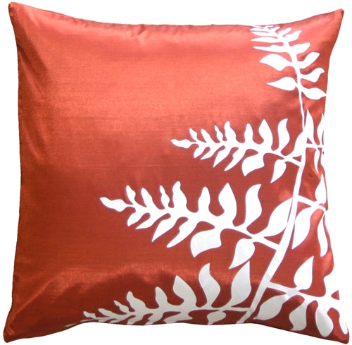 Red with White Bold Fern 20