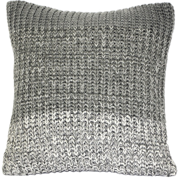 Hygge Gray Stripe Knit Pillow