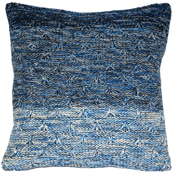 Hygge Storm Blue Knit Pillow