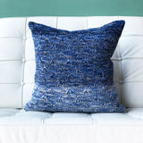 18x18 Hygge Storm Blue Knit Pillow